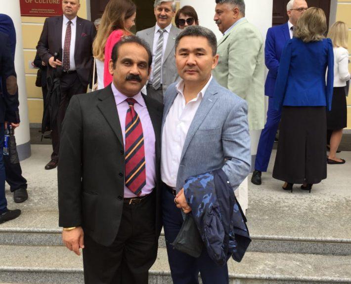 Встреча с генеральным консулом Индии в Санкт-Петербурге. Мероприятие в честь    Дня рождения Ленинградской области 2017 год.
